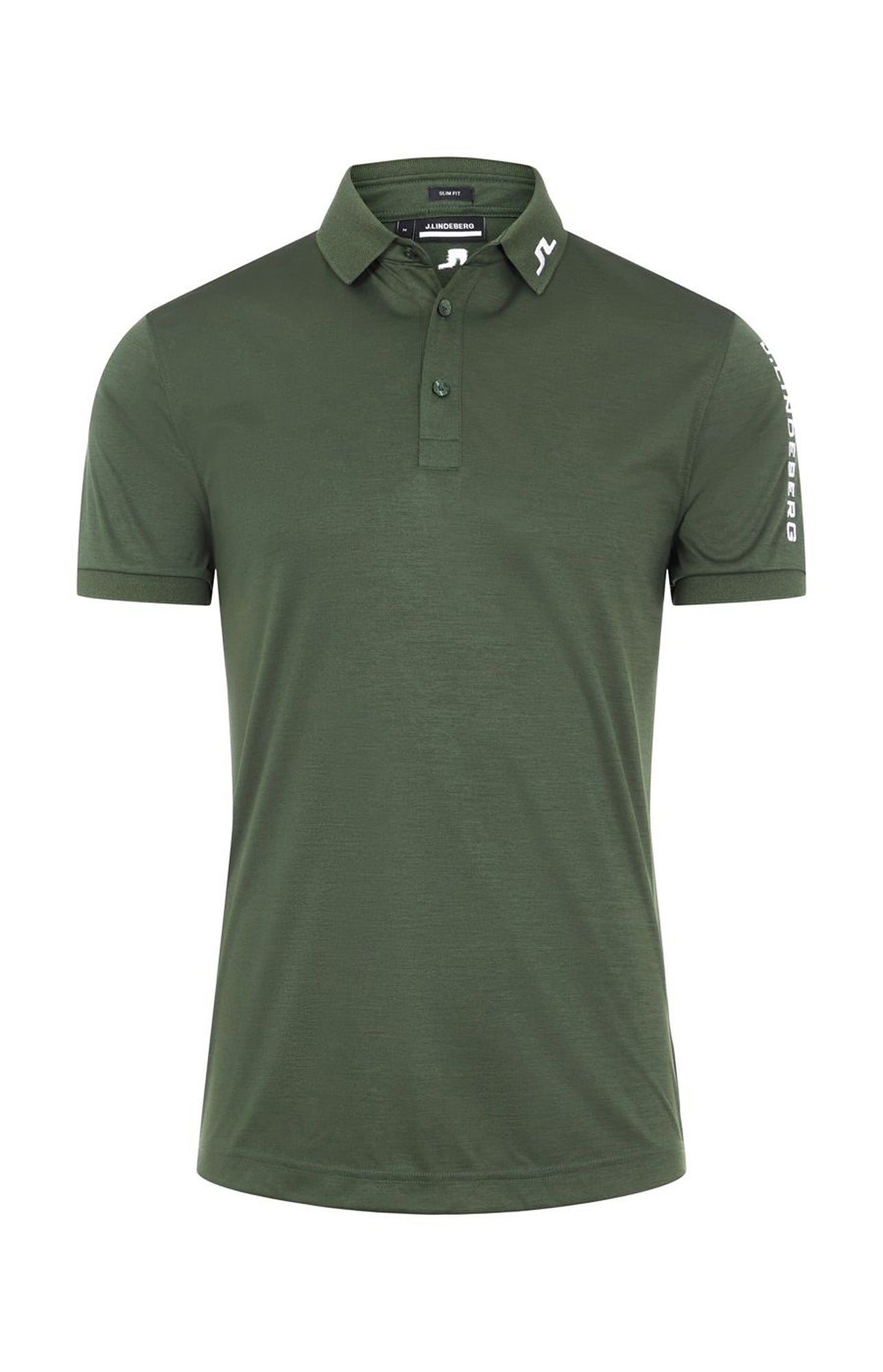 제이린드버그 투어 테크 슬림 핏 폴로 J Lindeberg Tour Tech Slim Fit Golf Polo (Thyme Green Melange)