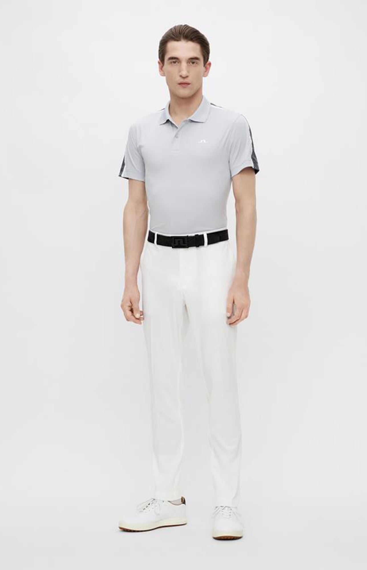 제이린드버그 플린 레귤러 핏 폴로 J Lindeberg Flinn Regular Fit Golf Polo (Stone Grey Melange)