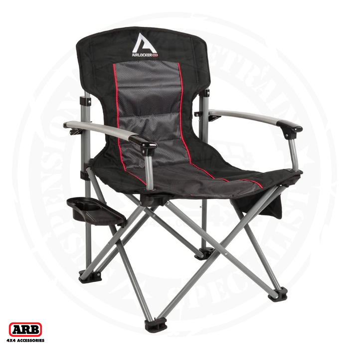 ARB Air Locker Camp Chair Black w/side table