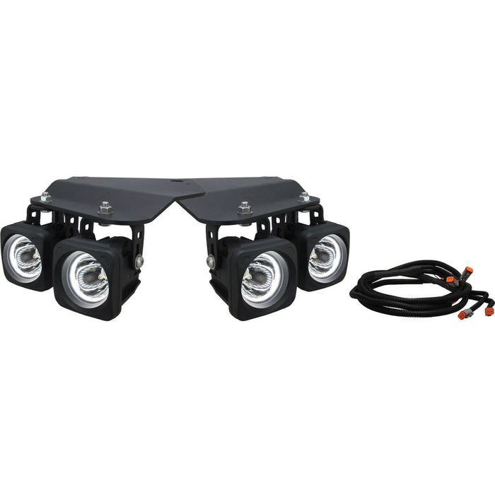 2010-2014 Ford Raptor Fog Light Add-On Kit (with Optimus Halo LED Light)