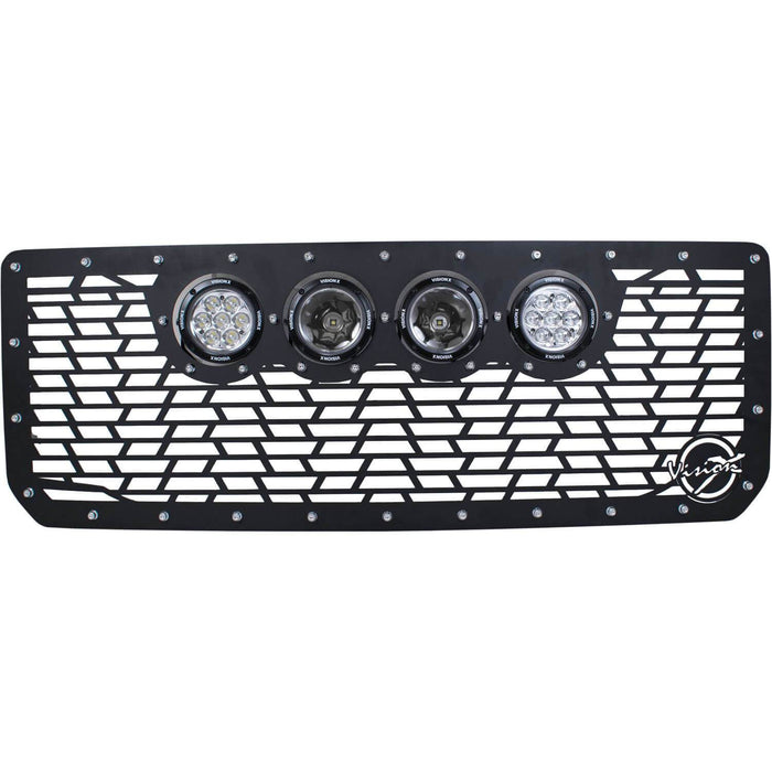 "2015-2019 GMC Sierra 2500/3500 Cannon CG2 Grille with 4 CG2 4.5"" Lights (2 CG2-CP710 and 2 Reflectors)"