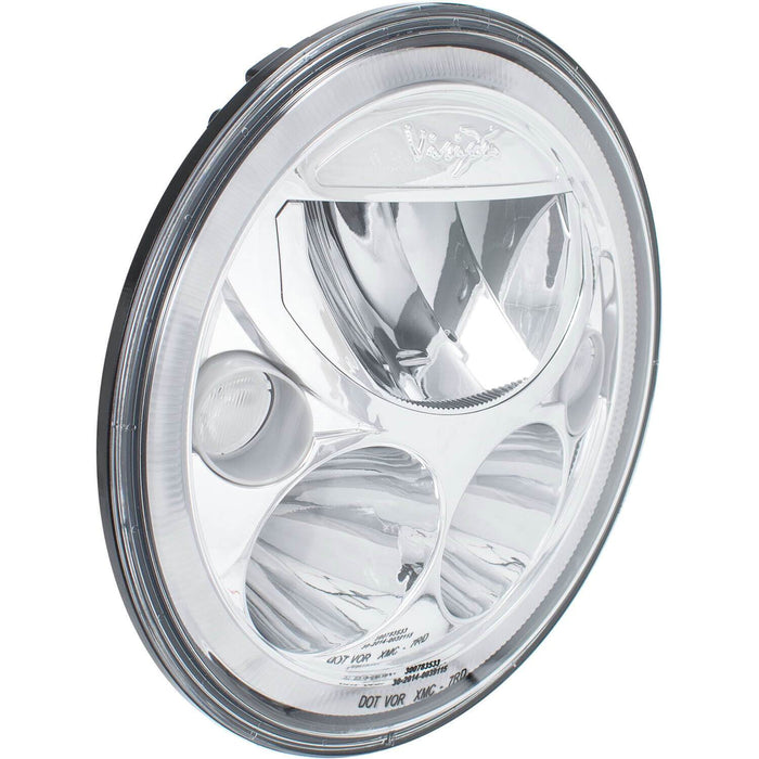 "Single 7"" Round Amber Halo VX Headlight (with Low-High-Halo)"