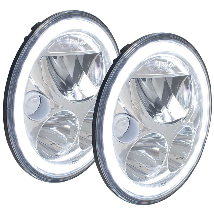 "Pair of 7"" VX LED Headlight (with Low-High-Halo)"