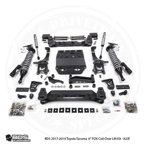 "BDS 2017-2019 Toyota Tacoma  6"" FOX Coil-Over Lift Kit - 823F"