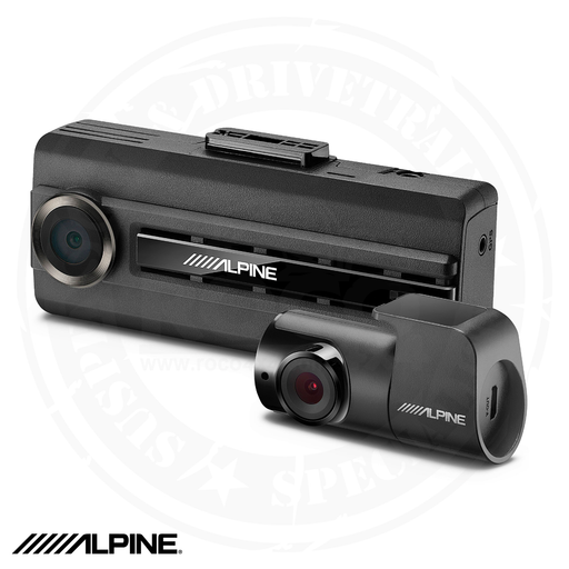ALPINE Premium 1080P Dash Camera Bundle (Front & Rear) with Impact Recording - DVR-C310R