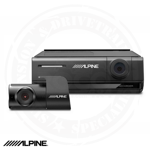 ALPINE Premium 1080P Night Vision Dash Camera Bundle (Front + Rear) with Built-In Drive Assist - DVR-C320R