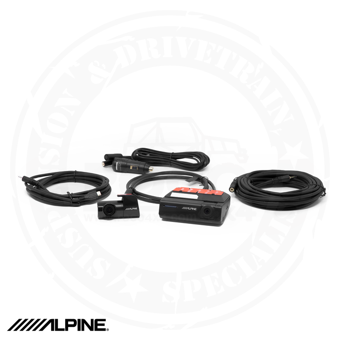 PRE ORDER ALPINE Premium 1080P Night Vision Dash Camera Bundle (Front + Rear) with Built-In Drive Assist - DVR-C320R