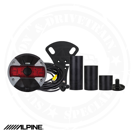 ALPINE Spare Tire Rear View Camera and Light System for 2007-Up Jeep Wrangler - HCE-TCAM1-WRA