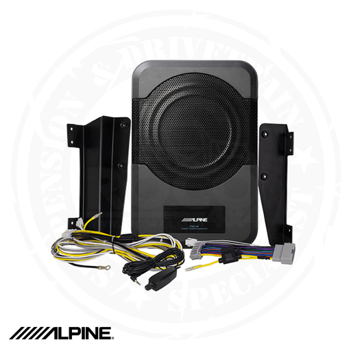 "ALPINE 8"" Compact Powered Subwoofer System for 2011-Up 4-door Jeep Wrangler JKU - PWE-S8-WRA"