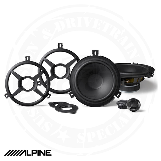 ALPINE 2-Way Weather Resistant Speaker System for 2007-2018 Jeep Wrangler JK - SPV-65X-WRA