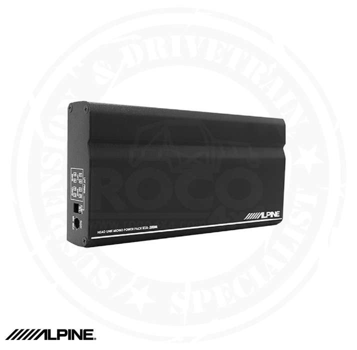 ALPINE Mono Power Pack Amplifier with PowerStack Capability - KTA-200M