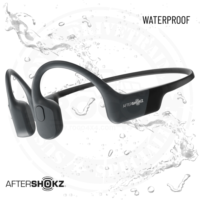 AfterShokz Aeropex Open-Ear Wireless Bone Conduction Headphones in color Black