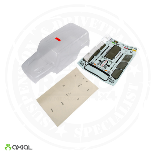 Axial Jeep JL 4dr Wrangler Body (Clear) - AXI230015
