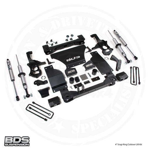 "BDS Suspension 4"" Snap-Ring Coilover Lift Kit 2019-2020 Chevy / GMC 1/2 Ton Pickup 4WD Silverado / Sierra - 748FSR"