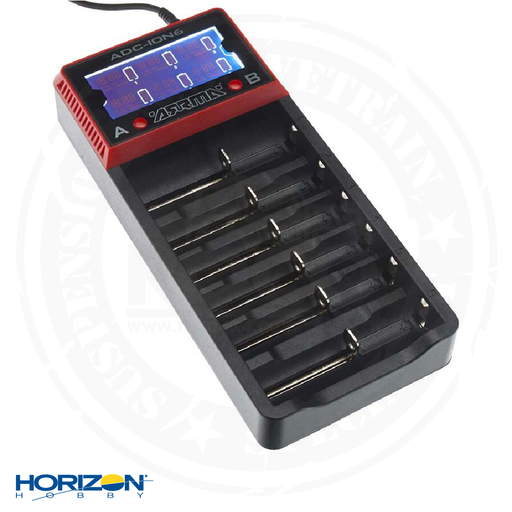 ARRMA AR390262 18650 Li-Ion 6-Bay Battery Charger - ARAP2001
