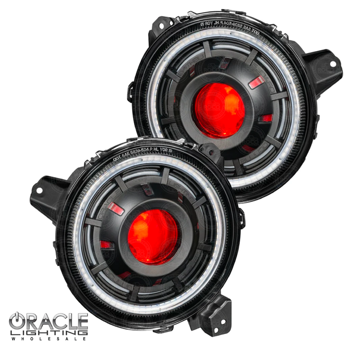 Oracle Lighting Oculus Colorshift Bi-LED Projector Headlights for 2018-2020 Jeep Wrangler JL & 2020 Jeep Gladiator JT