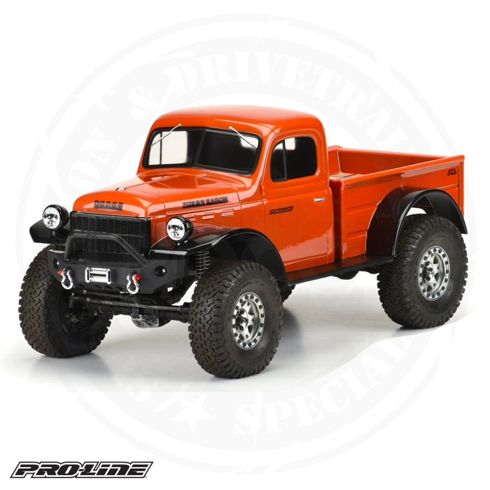 "Proline Racing - 1946 Dodge Power Wagon Clear Body, for 12.3"" (313mm) Wheelbase Scale Crawlers - PRO349900"