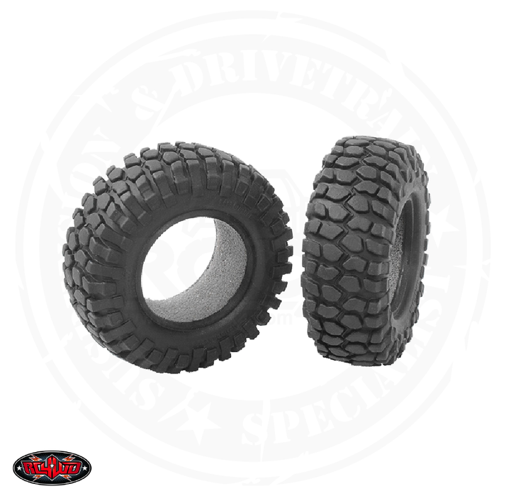 "RC 4WD Rock Crusher 1.0"" Micro Crawler Tires (Pair) - Z-T0027"