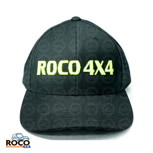 ROCO 4X4  Black Rounded Peak Cap