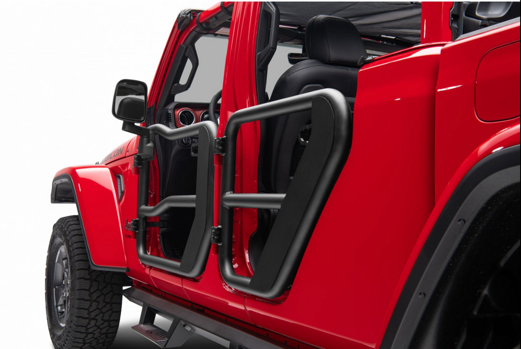 RUDGGED RIDGE - Fortis Rear Tube Doors; 18-20 Jeep JL / 2020 JT