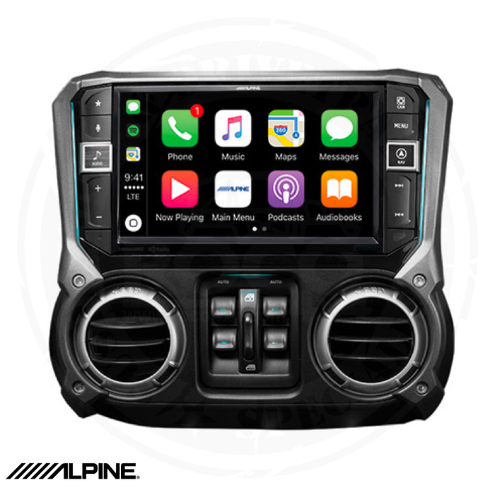 ALPINE 9-Inch Weather-Resistant Nav System with Off-Road Mode for 2011-2018  Jeep Wrangler