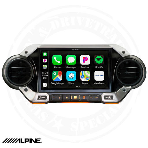 ALPINE 9-Inch Weather-Resistant Nav System  2018 – Up Jeep Wrangler & 2020 Jeep Gladiator - X409-WRA-JL