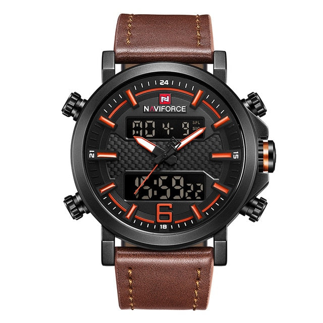 NAVIFORCE - Fashion Sport Leather Men Wrist Watches