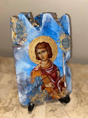 Saint Fanourios religious icon - ready to ship
