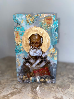 Saint Athanasios Religious icon - Original ready to ship