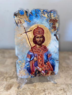 Saint Constantino religious icon - Ready to ship