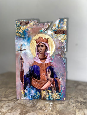 Saint Eleni Religious icon - Ready to ship