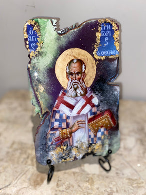 Saint Gregory religious icon - Original ready to ship