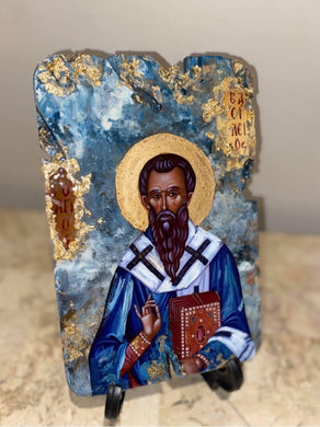 Saint Basil / Vasilios religious icon - ready to ship