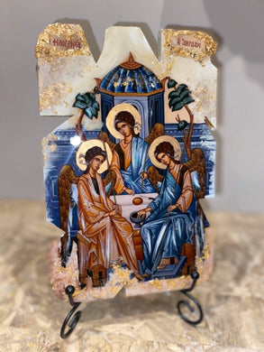The holy trinity - the hospitality of Abraham religious icon - ready to ship