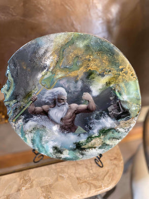 Poseidon Greek God of the Sea -   Only 1 off piece