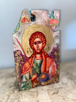 Freestanding Archangel Gabriel religious icon - ready to ship