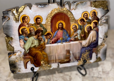 The last supper religious icon