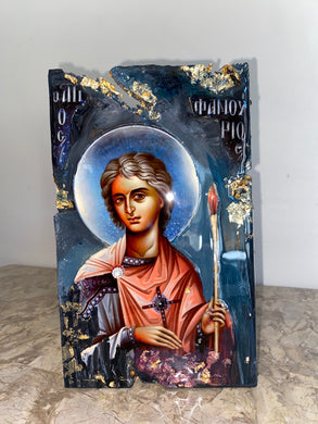 Saint fanourios religious icon Original ready to ship