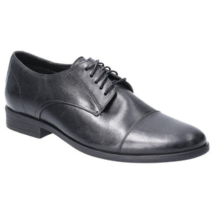 Hush Puppies Black Leather Tie Comfort - Shoes