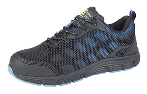 Women's Grafter Safety Shoes  Black/Blue