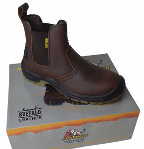 Buffalo Safety Boots in Brown and Black