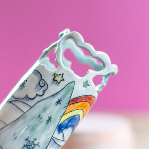 Unicorn : Small Vase #6