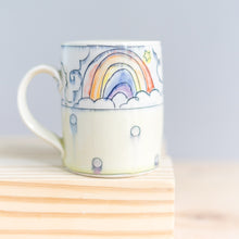 Load image into Gallery viewer, Unicorn and Rainbow with Dots : Tall Mug #27