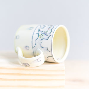 Unicorn and Rainbow with Dots : Tall Mug #27