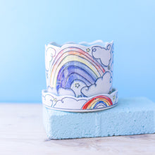 Load image into Gallery viewer, Unicorn and Rainbow : Small Planter #80