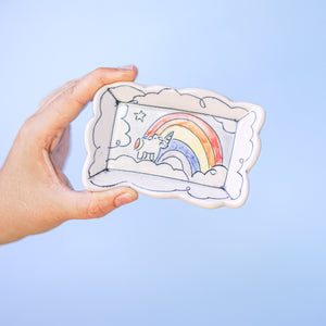 Unicorn and Rainbow : Ring Dish #96