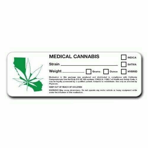 california dispensary labels