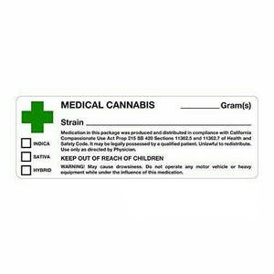 california dispensary medical cannabis labels
