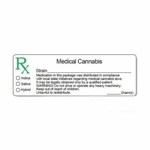 non state specific dispensary RX packaging label