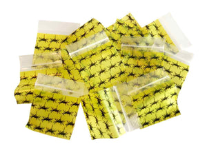 1515 apple bags spider design yellow and black